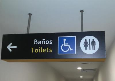 Señaletica Baños Aeropuerto el Dorado